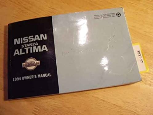 1994 nissan stanza altima owners manual nissan amazon com books rh amazon com 1999 Nissan Altima 1999 Nissan Altima