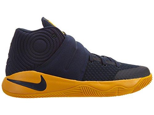 watch 07d58 d70cf Nike Grundskola Pojkar Kyrie 2 Basketskor Mitten Marin   Mid Navy  Universitets Guld-un ...