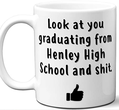 (Henley High School Graduation Gift. Cocoa, Coffee Mug Cup. Student High School Grad Idea Teen Graduates Boys Girls Him Her Class. Funny Congratulations. 11 oz.)