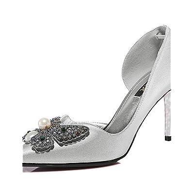 Ggx/femme Chaussures Paillettes Printemps/été/automne/hiver talons Mariage/fête & Soirée/décontracté Escarpin Noir/argent