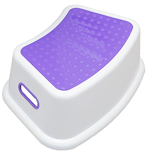 LANKUO Step Stool, Take It Along in Bedroom, Kitchen, Bathroom and Living Room. Great For potty Training! (purple) (Aluminium Outdoor Park Furniture)