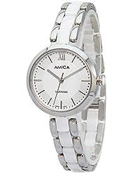 Amica Womens D-Ceramics Quartz Sapphire Silver Tone Stainless Steel Wrist Watches A-1-5