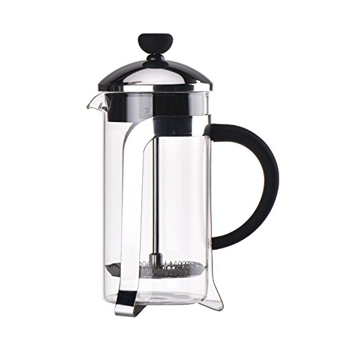 French Press Coffee & Tea Makers 2 Cup (0.35 liter, 12 oz) 304 Grade Stainless Steel, Heat Resistant Borosilicate Glass Classical