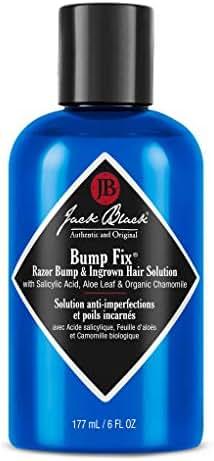 JACK BLACK Bump Fix Razor Bump & Ingrown Hair Solution PureScience Formula, Helps Reduce Razor Bumps, with Salicylic Acid, Aloe Leaf and Organic Chamomile, 6 oz. Bottle