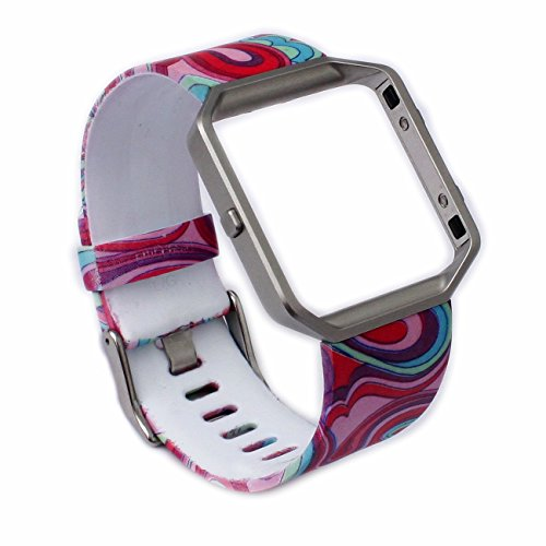 Greatfine Uhrarmband Armbands Bügel für Fitbit Blaze Activity Tracker Zubehör (Rainbow)