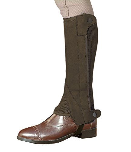 Elite Half Chaps - OV LDS Elite Amara Half Chap Dark Brown Smalll