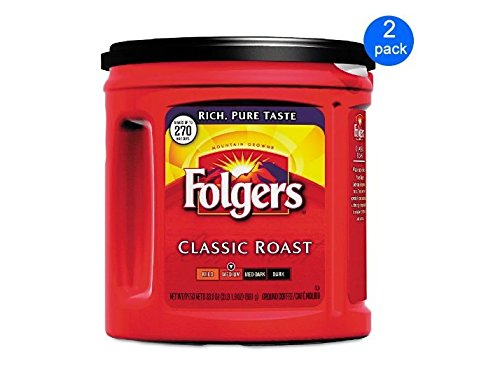 Price comparison product image Folgers Coffee Classic Roast 2-pack; 33.9 Oz Each.