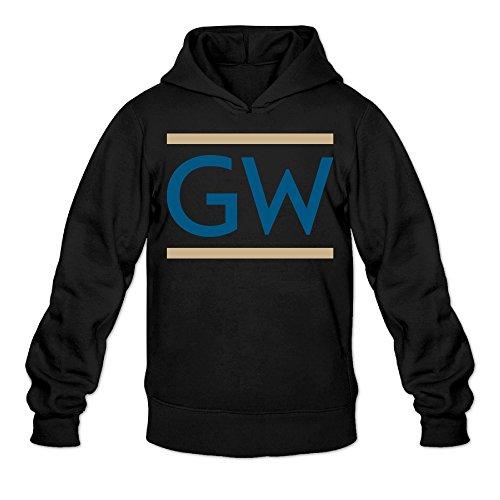[AK79 Men's Sweatshirt The George Washington University Size XL Black] (Caitlyn Jenner Costume)