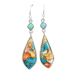 Pu Ran Fashion Women Hollow Leaves Dangle Hook Beads Earring Bohemia Charm Jewelry (11#)