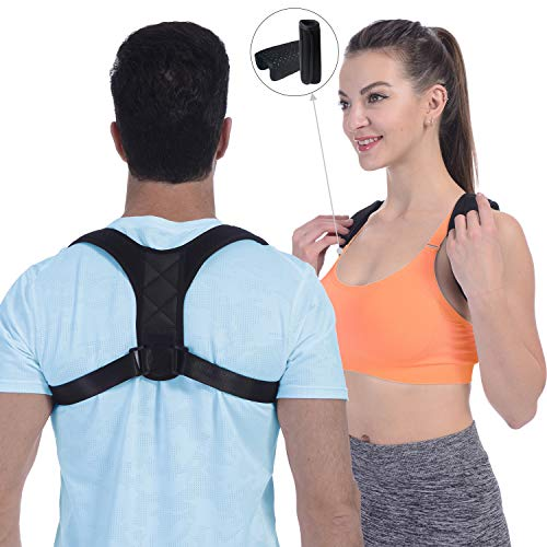 【2019 New Version】Posture Corrector for Women and Men, FDA Approved Adjustable Upper Back Brace for Providing Pain Relief from Back, Shoulder and Neck, Medical Kyphosis Trainer Under Clothes