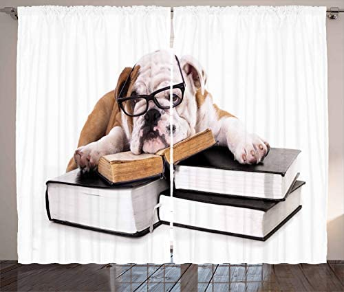 Ambesonne English Bulldog Curtain