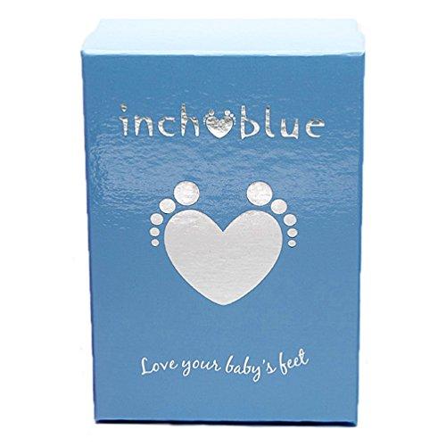 """""""Bleu de Luxe pour bébé fille en cuir souple Semelle Chaussures Landau–Oiseaux d'amour bleu marine"""