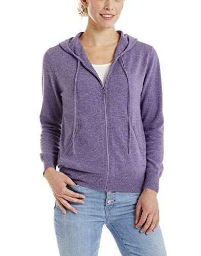 Lilac Invisible Drawstrng World Hoodie Women's New Medium Cashmr ZYOAHnZ