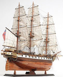Uss Constellation Frigate Wooden Tall Ship Model 38
