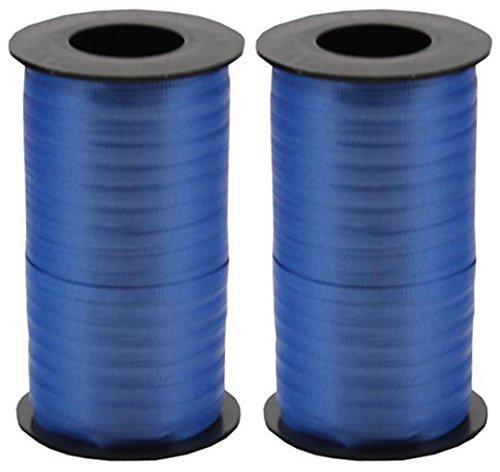 2-Pack Bundle - Berwick Splendorette Crimped Curling Ribbon, 3/16-Inch Wide by 500-Yard Spools, Royal Blue