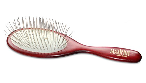 Mars Professional Advanced Maxipin Pin Brush for Dog Grooming, Solid Wood Handle and Stainless Steel Pins, 9