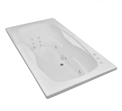 Genial Carver Tubs   AR7242 Rectangle Drop In   12 Jet, Self Draining Whirlpool  Bathtub With
