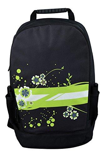 MySleeveDesign mochila cartera con compartimento para portátiles �?VARIOS DISEÑOS Green Flowers