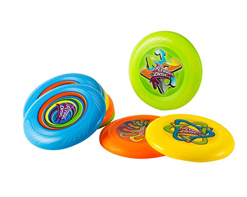 Flying Disc – 12 Pack Plastic Throwing Discs for Kids, Disc Toss for Outdoor Sports, Block Parties, Sunshine Events, Multicolored, 10 Inches in Diameter by Blue Panda