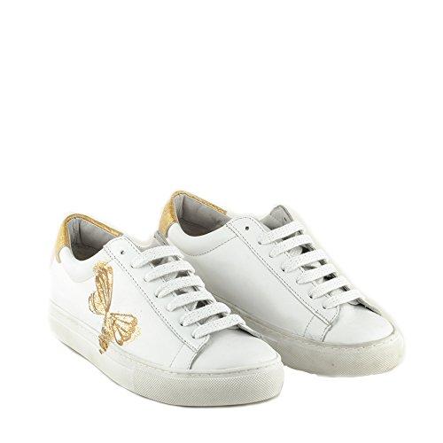 Felmini - Zapatos para Mujer - Enamorarse com Fame A532 - Sneakers - Cuero Genuino - Blanco Blanco