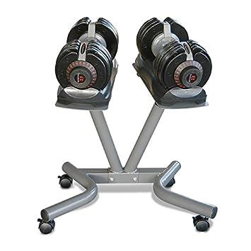 EZ Dumbells ez0200 Mancuernas a Carga Variable kg 32.5 + Stand ...