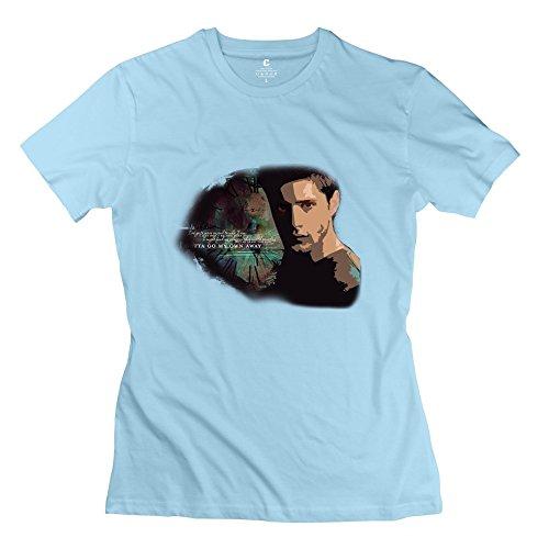 Women's Jensen Ackles Supernatural Short Sleeve T Shirt Size M SkyBlue