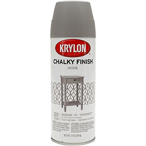 Krylon K04106000 Chalky Finish Spray Paint, Mink, 12 Ounce