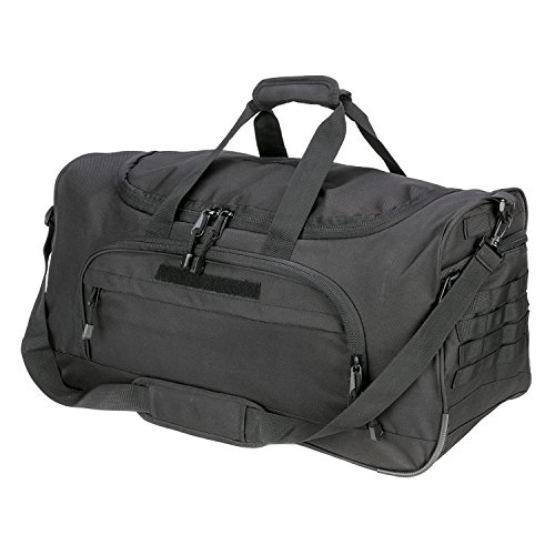 WWX Travel Sports Bag for Women and Men Lightweight Gym Bag with Shoes Compartment (Black)