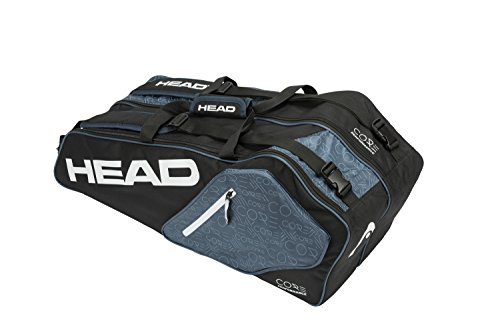 HEAD Core 6R Combi Tennis Racquet Bag – 6 Racket Tennis Equipment Duffle Bag