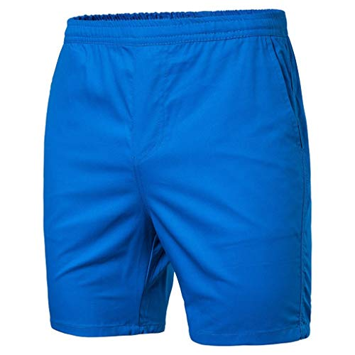 MIS1950s Men's Drawstring Walk Short Casual Elastic Waist Knee-Length Shorts with Drawstring Beach ()