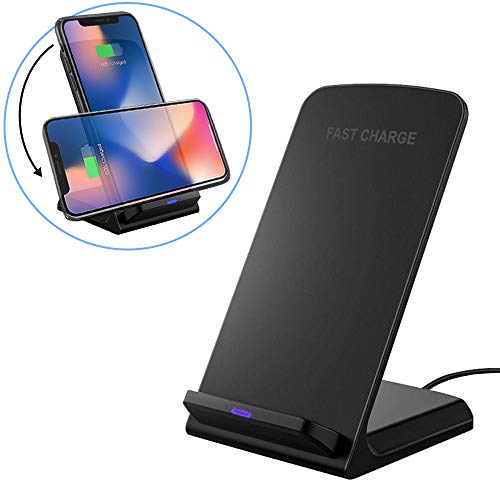 Dual Coil (Acuvar Wireless Dual Coil Fast Charging Smartphone Stand Compatible iPhone Xs, Max, Xr, X, 8, 8 Plus, Galaxy S9, S8+, Note 9, and Other Wireless Charging Enabled Devices)