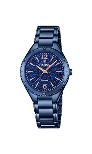 Festina Womens Analogue Quartz Watch with Stainless Steel Strap F16923/4
