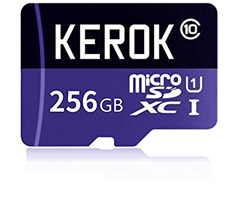 Tarjeta de Memoria Micro SD SDXC 256 GB de Alta Velocidad Clase 10 con Adaptador Micro SD