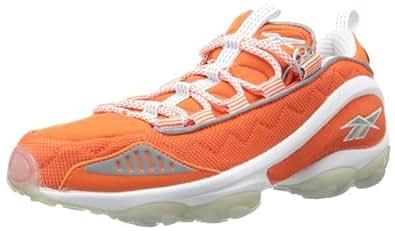 Reebok Men's DMX Run 10 Lace-Up Fashion Sneaker,Orange/White/Pure Silver,8.5 M US
