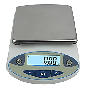High Precision Lab Digital Analytical Electronic Balance Laboratory Lab Scale Precision Jewelry Scales Kitchen Precision Weighing Electronic Scales 0.01g Calibrated & Ready to use (5000g, 0.01g)