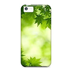 New Arrival Green Maple Leaves VUp29494aZeR Cases Covers/ 5c Iphone Cases