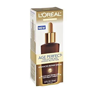 LOreal Skin Expertise Age Perfect Hydra-Nutrition Advanced Skin Repair Serum 1 oz (Pack of 6) Decleor - Aromessence Mandarine Smoothing Night Balm -15ml/0.5oz