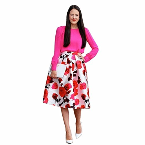 db47995d947 50%OFF Rumas® Retro Women A-Line Printing Umbrella Skirt Puff Skirts Clothes