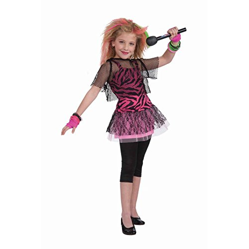 Eighties Rock Star Costume (Forum Novelties 80's Rock Star Child Girl's Costume, Small)