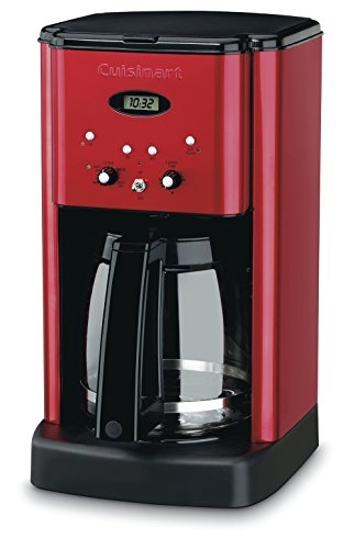 Cuisinart DCC-1200MR 12 Cup Brew Central Coffee Maker, Metallic Red (Charcoal Machine)