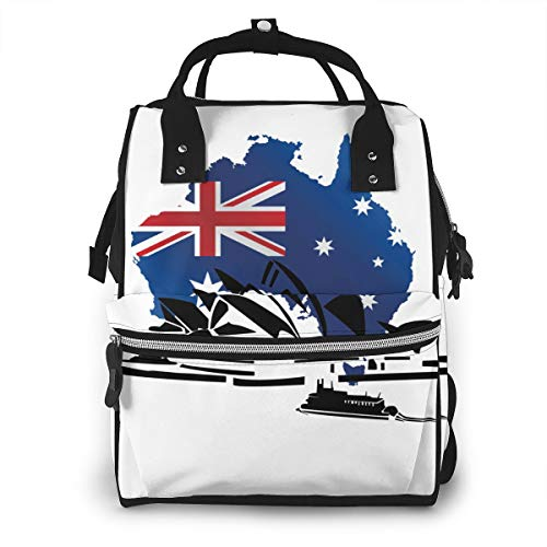 - FSXDOG-DB The Sydney Opera House Australia Diaper Bag Backpack Multi-Function Waterproof Nappy Bags for Mom Dad Travel Large Capacity Baby Care Changing