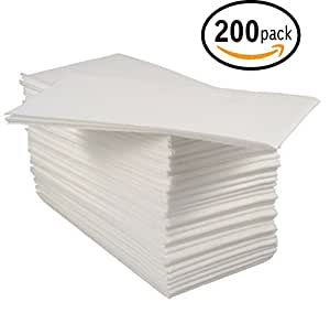 Bloomingoods disposable linen like guest hand - Disposable guest towels for bathroom ...