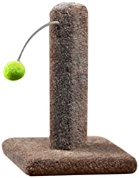 Ware Manufacturing Carpeted Kitty Cactus Scratch Post with Pom Pom, 16-Inch