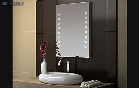 Specchio da bagno con illuminazione led integrata hlm