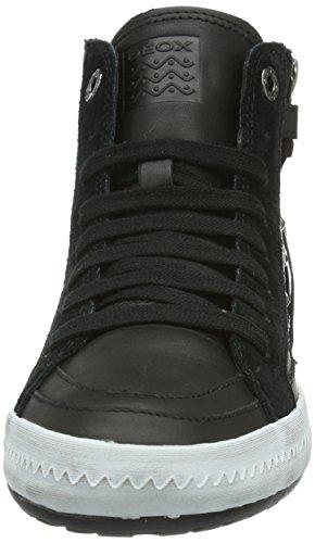 Geox JR WITTY - Zapatillas de cuero para niña negro - Schwarz (BLACKC9999)