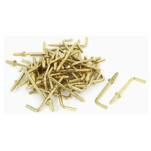 16mm Material (DealMux 47mm x 16mm x 3mm L Shaped Shoulder Straight Dresser Cup Hook Hanger 50PCS)
