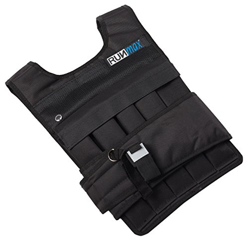 RUNFast rm40p RUNmax 12lb-140lb Weighted Vest (with Shoulder Pads, 40lb) (Running Mens Vest)