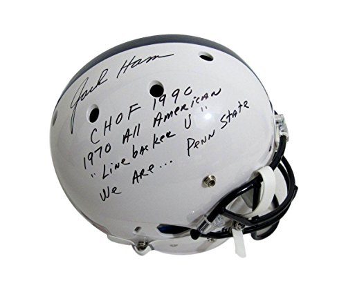 Jack Ham Penn State PSU Signed Full Size Helmet Multi Inscribed JSA 131939 ()