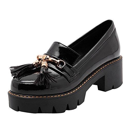 Zapatillas Holgadas Shine Mujeres Casual Chunky Con Tacón En Plataforma Negras