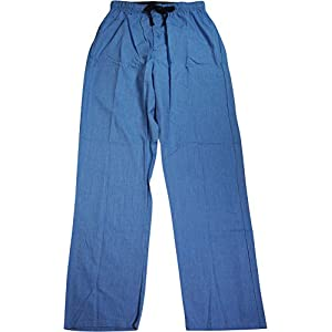 Hanes Men`s Logo Woven Plaid Pant,02000B/02000BX,M,Medium Blue